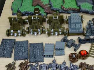 MEGA BLOKS DRAGONS WARRIORS FORTRESS   ASSORTED PARTS, MINIFIGS, AND
