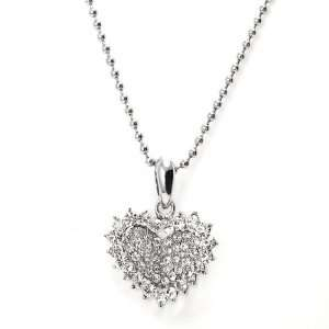Perfect Gift   High Quality Glistering Joyful Heart Pendant with