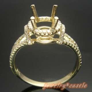 7MM ROUND CUT SOLID 10K YELLOW GOLD SEMI MOUNT NATURAL DIAMOND