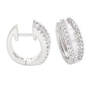 White Gold Huggie Earring Jewelry
