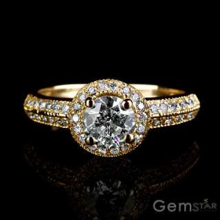 CT ROUND DIAMOND SOLITAIRE RING YELLOW GOLD