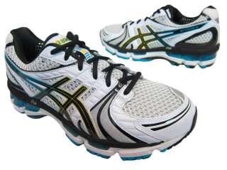 Asics Mens Gel Kayano 18 T200N0190 White Black Athletic Running