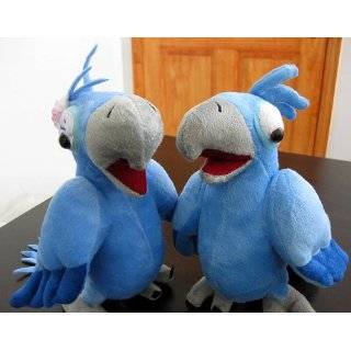 Macaw Rio de Janiero Male & Female Pair Couple Set Plush Bird Doll