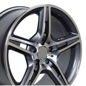 AMG Style Wheel with Machined Face Fits Mercedes Benz   Gunmetal 18x9