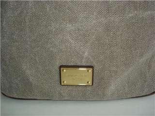 New Michael Kors MARINA Medium Grab Bag HEMP Canvas NWT Same Day Ship