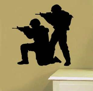 Vinyl Wall Art Decal Sticker Army Men Soldiers Swat