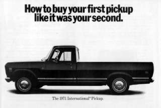 1971 International Pickup Truck Original Brochure Ad