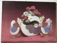 Keepsake Sampler Wood Craft Paint Pattern Book Geese