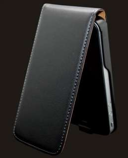 iPhone 4 4G 4S New Black Leather Pouch Flip Case