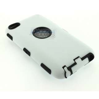 WHITE 3PIECE HARD CASE COVER SKIN FOR IPOD TOUCH 4 4G NEW
