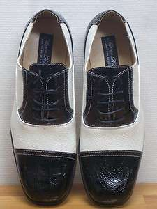 MEN ITALIAN STYLE BLACK & WHITE SHOES SIZE 13 NEW