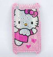 hot sale new iphone 3G 3GS bling crystal hello kitty pink skin cover