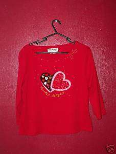 Jack B Quick Large red candy heart valentine top