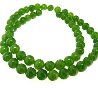 Green Jade Beads Gemstone 6mm Wholesale 5Strands/Lot