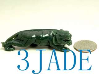 Natural Nephrite Jade Carving Tiger Figurines
