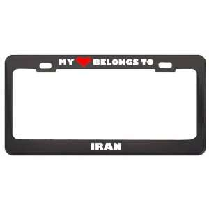 To Iran Country Flag Metal License Plate Frame Holder Border Tag
