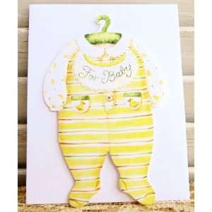 6 Carol Wilson Mailable Enclosure Cards For Baby Yellow