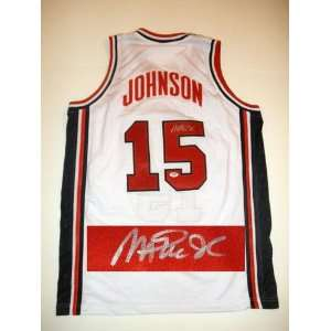 Magic Johnson Autographed Jersey   Team Usa Psa   Autographed NBA