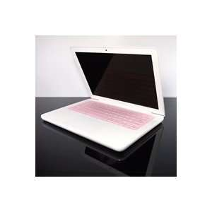 TopCase Transparent PINK Keyboard Silicone Cover Skin for Macbook 13