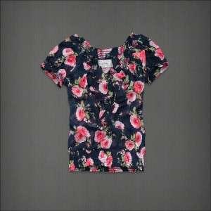 NWT Abercrombie & Fitch Hollister Women Blouse Shirt Chiffon Top S M L