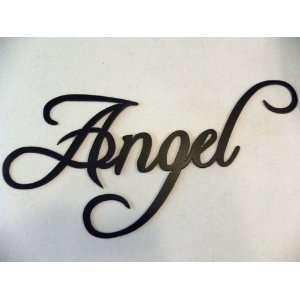 Angel Word Metal Wall Art Home Decor