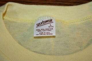 NOS vtg 70s 80s KAHNS HOT DOG shirt * PAPER THIN & SOFT