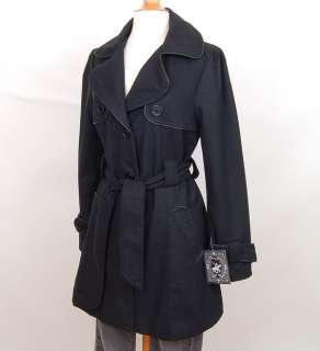 Womens Wool Trench Coat Long Belted Ladies Jacket NEW