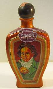 Jim Beams Choice Beethoven Kentucky Bourbon Whiskey 4/5 qt. Decanter