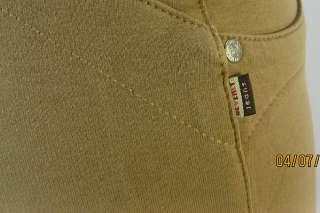 Bonita Extended Waistband Bermuda Short Moleton Jeans Low Rise Stretch