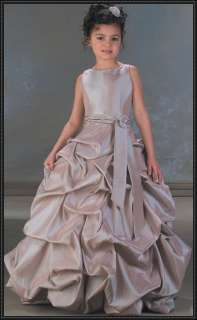 little girl Dress/Bridesmaid/ball/Gown Size*Custom