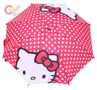Sarino Hello Kitty Kids Umbrella Big Face w/Polka Dots