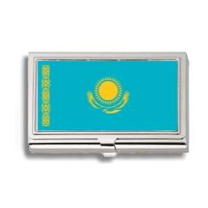 Kazakhstan Kazakstan Flag Business Card Holder Metal Case