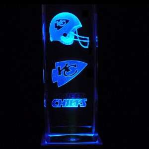 Kansas City Chiefs 3D Laser Etched Crystal includes Two Separate LEDs