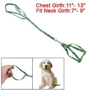 Como Dog Pet Lobster Clasp Pulling Harness Green Adjustable Leash Rope