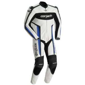 Cortech Latigo RR 1 Piece Leather Motorcycle Suit White