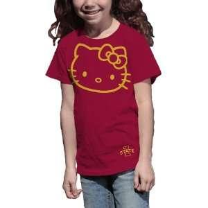 NCAA Iowa State Cyclones Hello Kitty Inverse Girls Crew Tee Shirt
