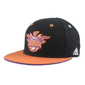 adidas Phoenix Suns Black Crown Team Kolors Fitted Hat