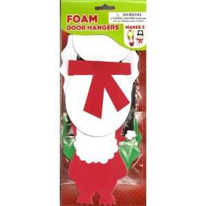 Christmas Foam Door Hangers Craft Kit   Snowman & Santa