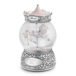 Personalized Carousel Horse Snow Globe Gift