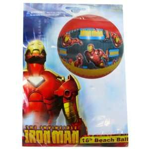 Marvel Comics Iron Man Beach Ball  16in (Assorted Designs