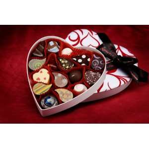Valentines Day Grand Heart Truffle Box  Grocery & Gourmet