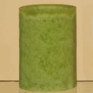 com Green Battery Operated Pillar LED Flicker Candle Home & Kitchen