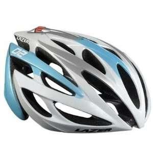 Lazer O2 RD Race Wht/ Ice Blue Cycling Bike Bicycle Helmet
