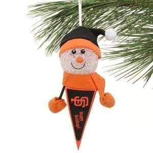 San Francisco Giants Light Up Snowman Pennant Ornament