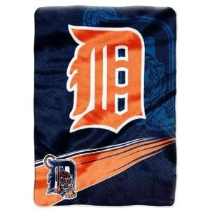 Detroit Tigers 60x 80 Super Plush Throw (Speed Series