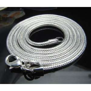 Sterling Silver Snake Chain Necklace   3mm   24