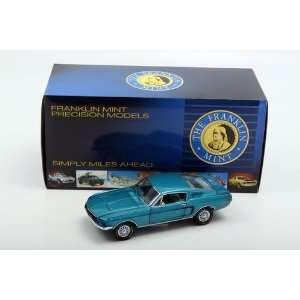Franklin Mint 1/24 1968 Ford Mustang GT Fastback Blue Toys & Games