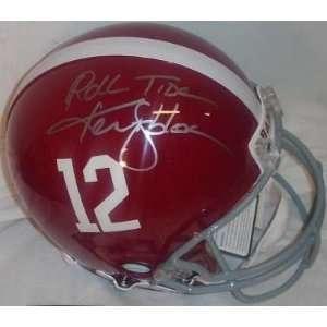 Ken Stabler Autographed/Hand Signed Alabama Crimson Tide Full Size