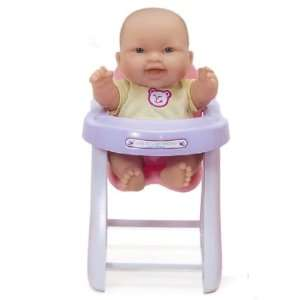 Love 10 Doll w/High Chair Berenguer Doll Expression A: Toys & Games