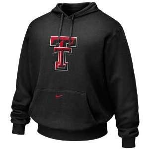 Nike Texas Tech Red Raiders Black Tackle Twill Logo Hoody